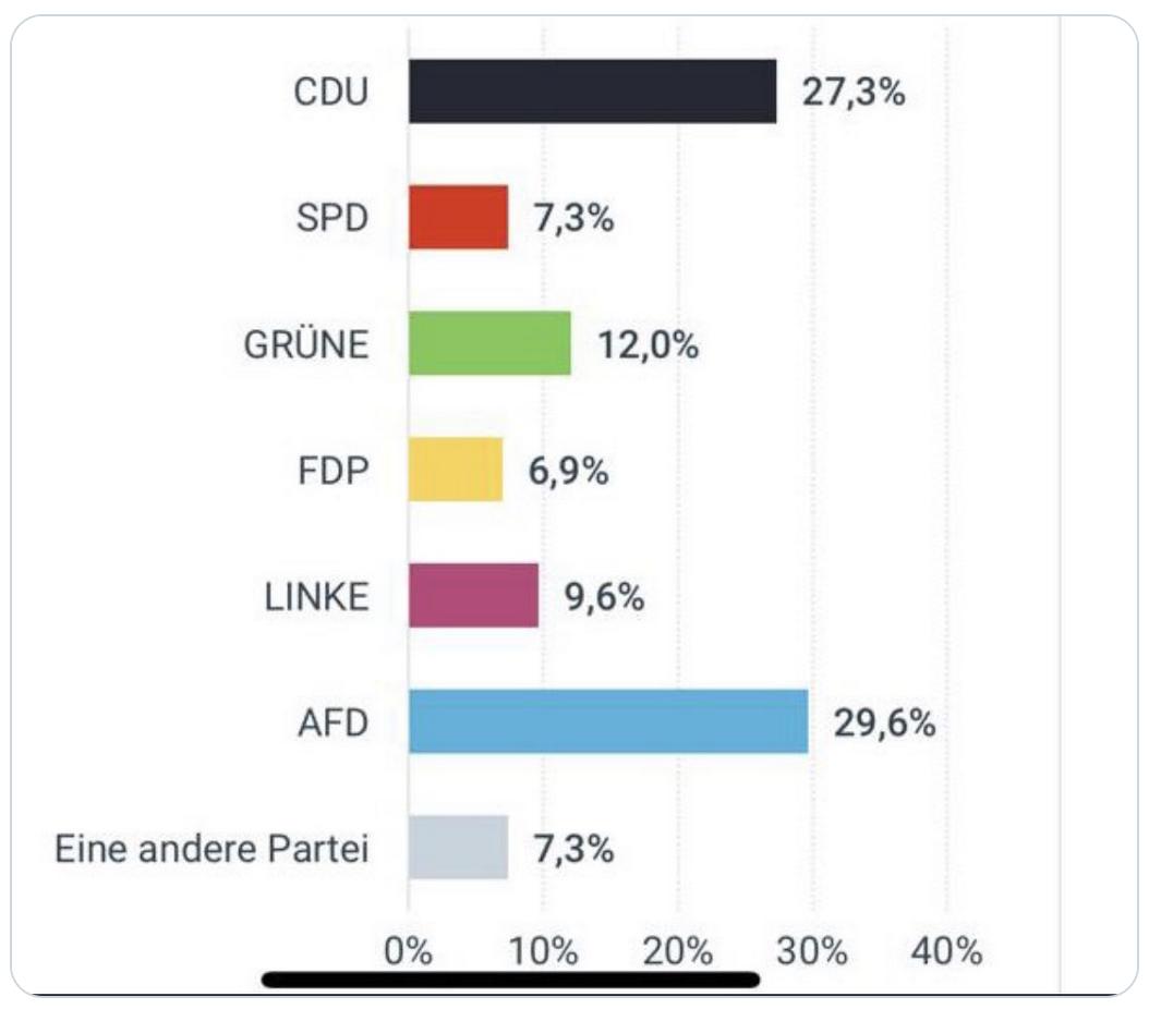 Allemagne : L'AfD premier parti de Saxe (juste devant la CDU) dans un sondage