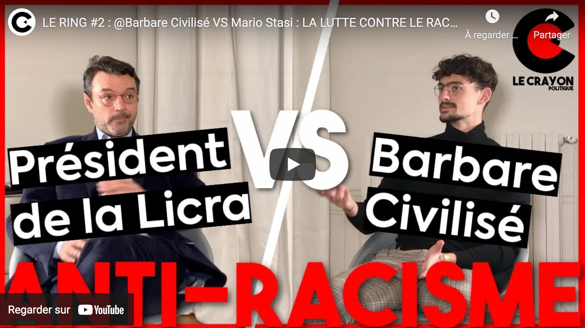 Racisme, antiracisme : Barbare Civilisé VS Mario Stasi (DÉBAT)