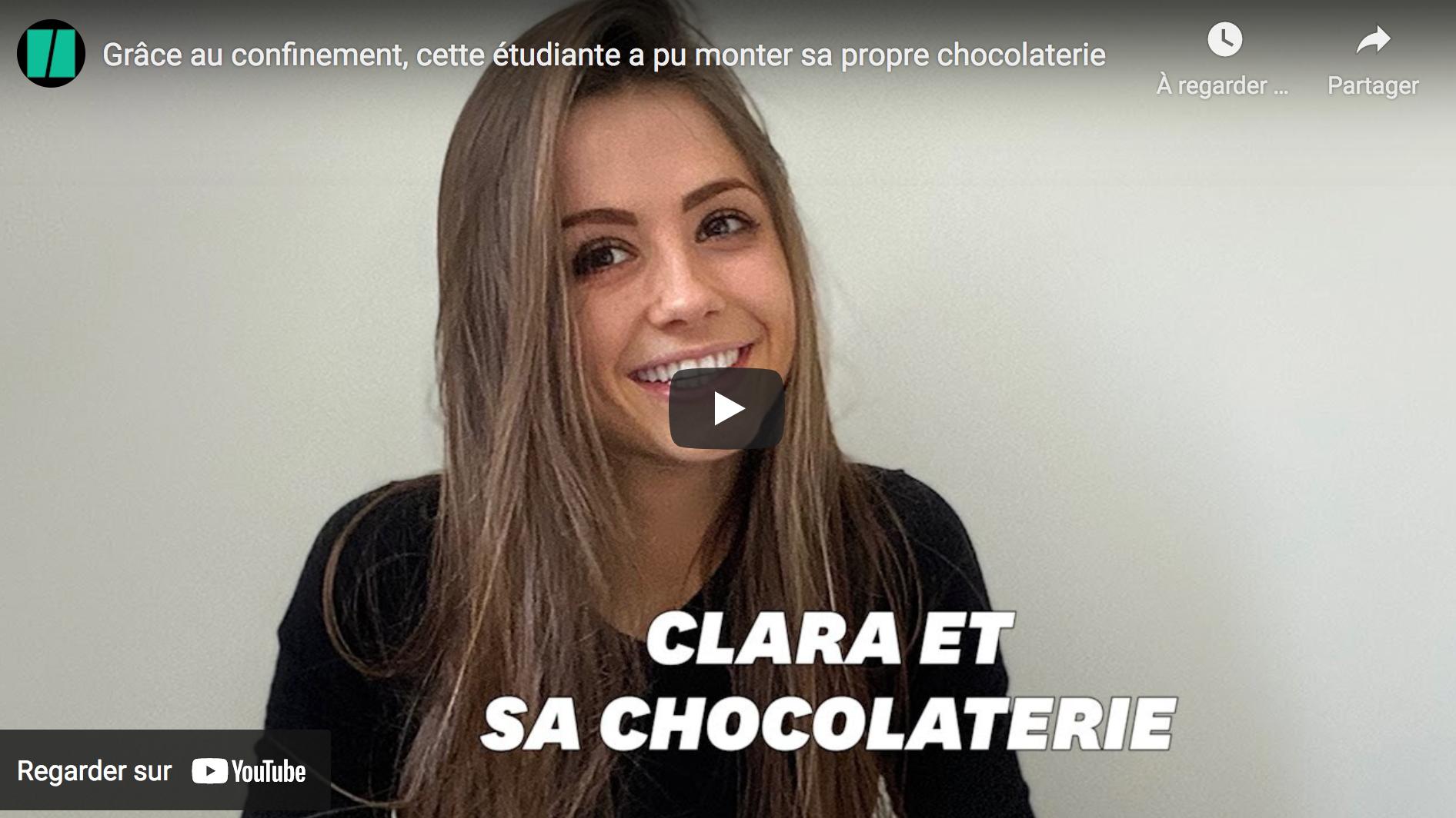 Grâce au confinement, cette étudiante a pu monter sa propre chocolaterie
