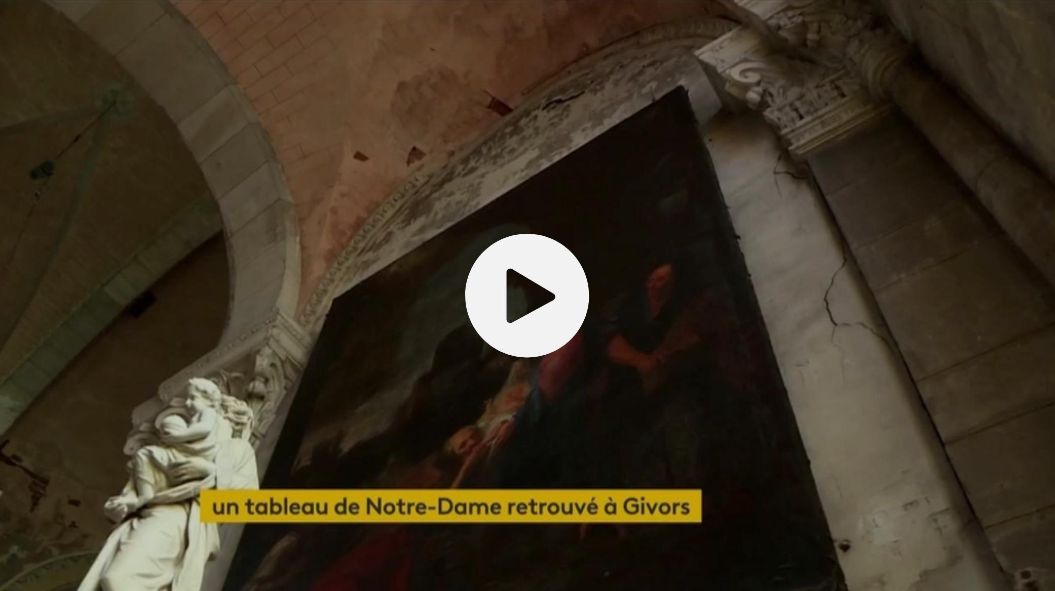 Givors : un tableau de Notre-Dame retrouvé dans l'église Saint-Nicolas