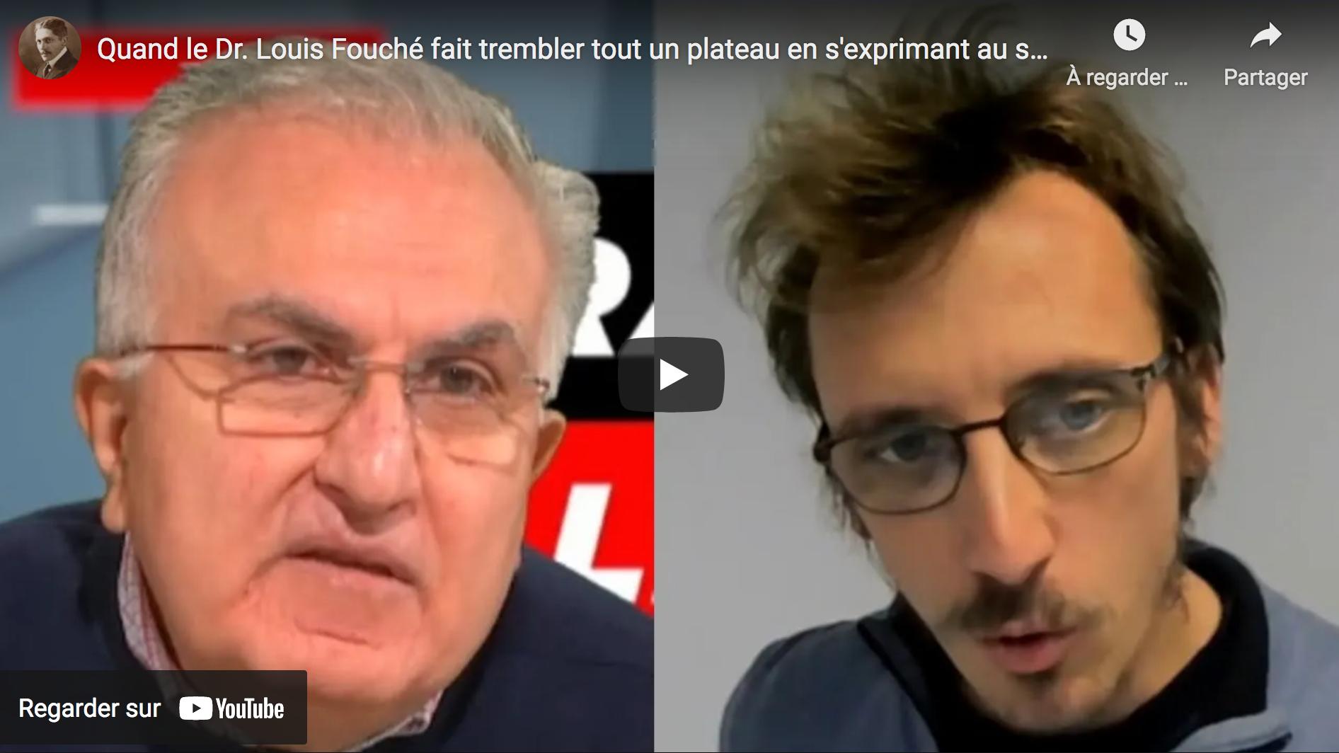 """Quand le Dr Louis Fouché fait trembler tout un plateau en s'exprimant au sujet de la """"vaccination"""" à ARN messager (VIDÉO)"""