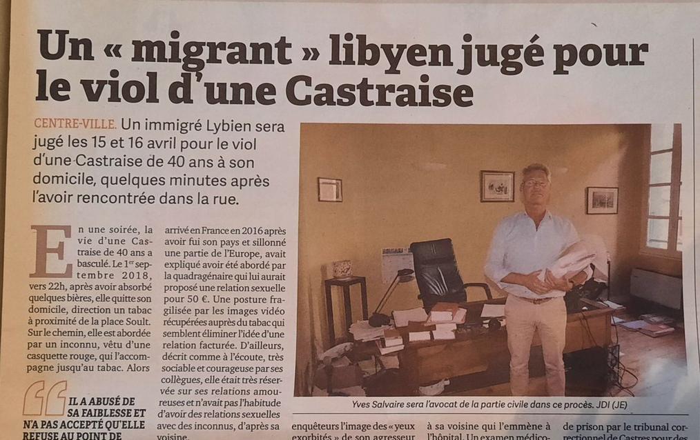 """Un """"migrant"""" libyen jugé pour le viol d'une Castraise"""