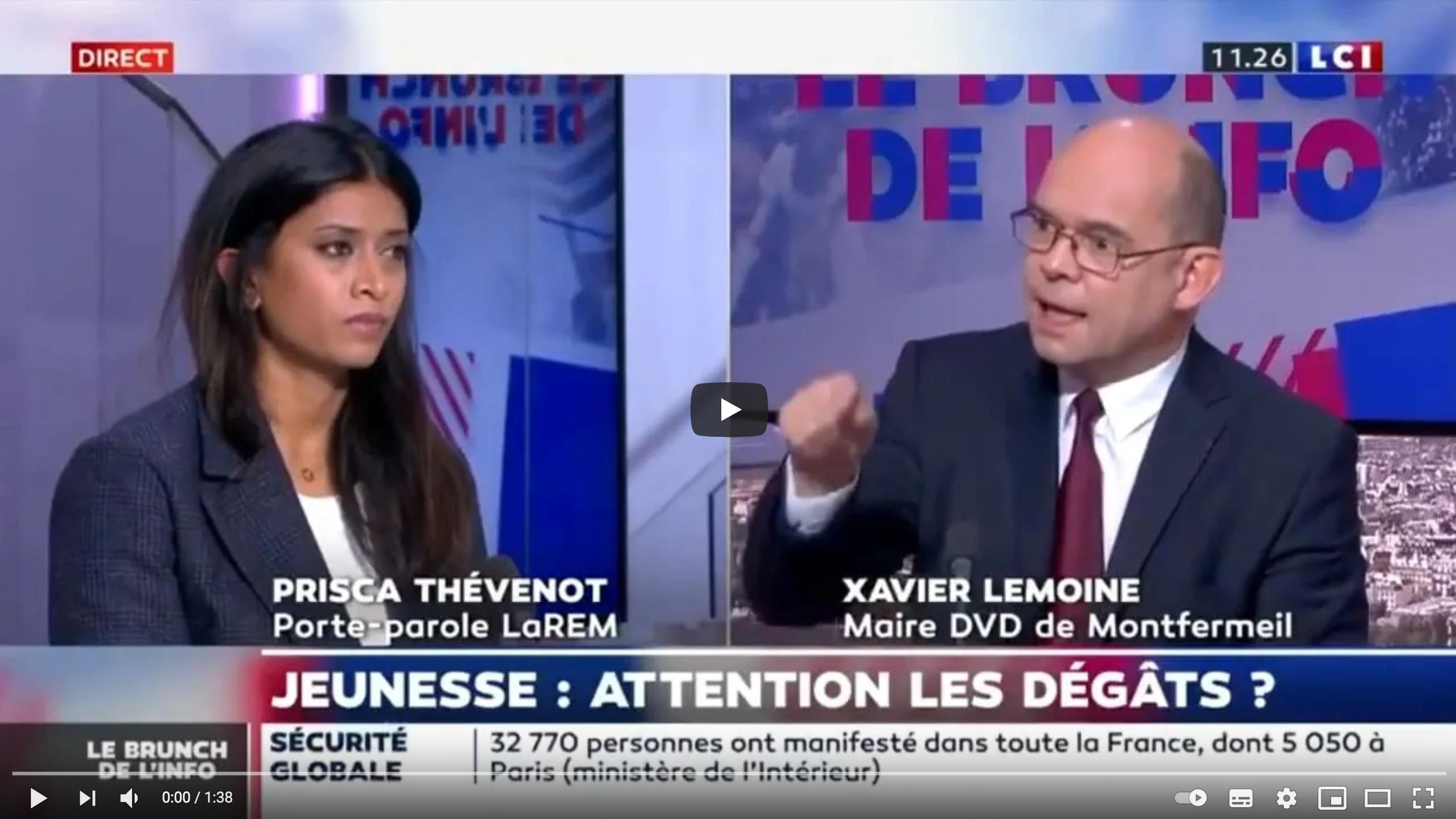 Xavier Lemoine, le maire divers-droite de Montfermeil, allume le plateau de LCI en appelant à la désobéissance civile ! (VIDÉO)