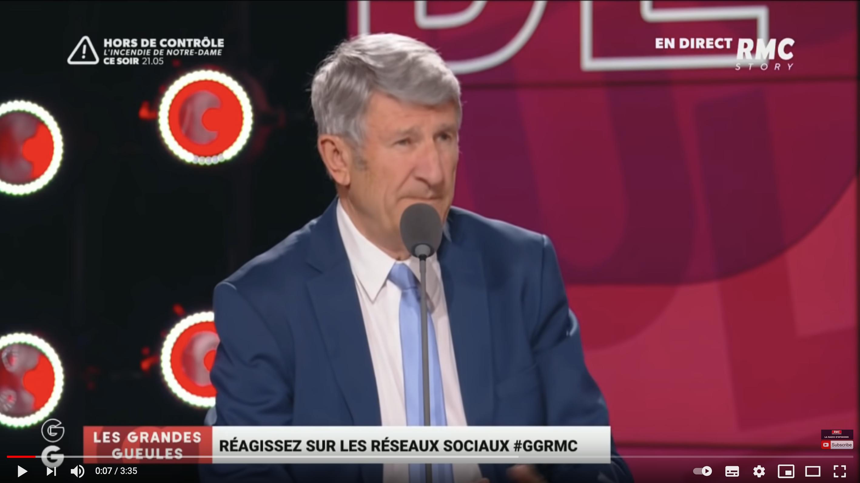 """Philippe de Villiers tacle Emmanuel Macron et le """"Maréchal Delfraissy"""" dans """"Les Grandes Gueules"""""""