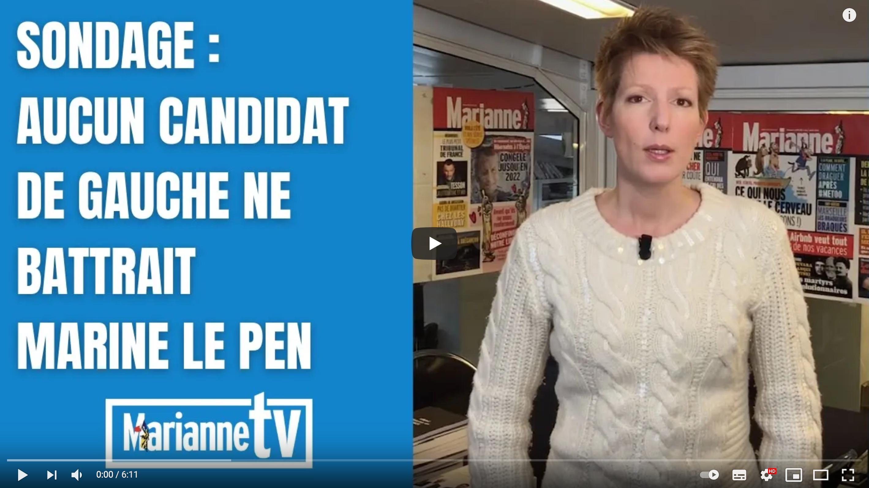 Sondage : aucun candidat de gauche ne battrait Marine Le Pen (Natacha Polony)