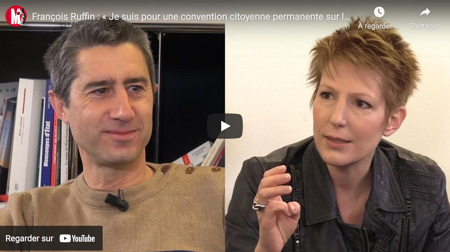 François Ruffin : « Je suis pour une convention citoyenne permanente sur les technologies » (VIDÉO)