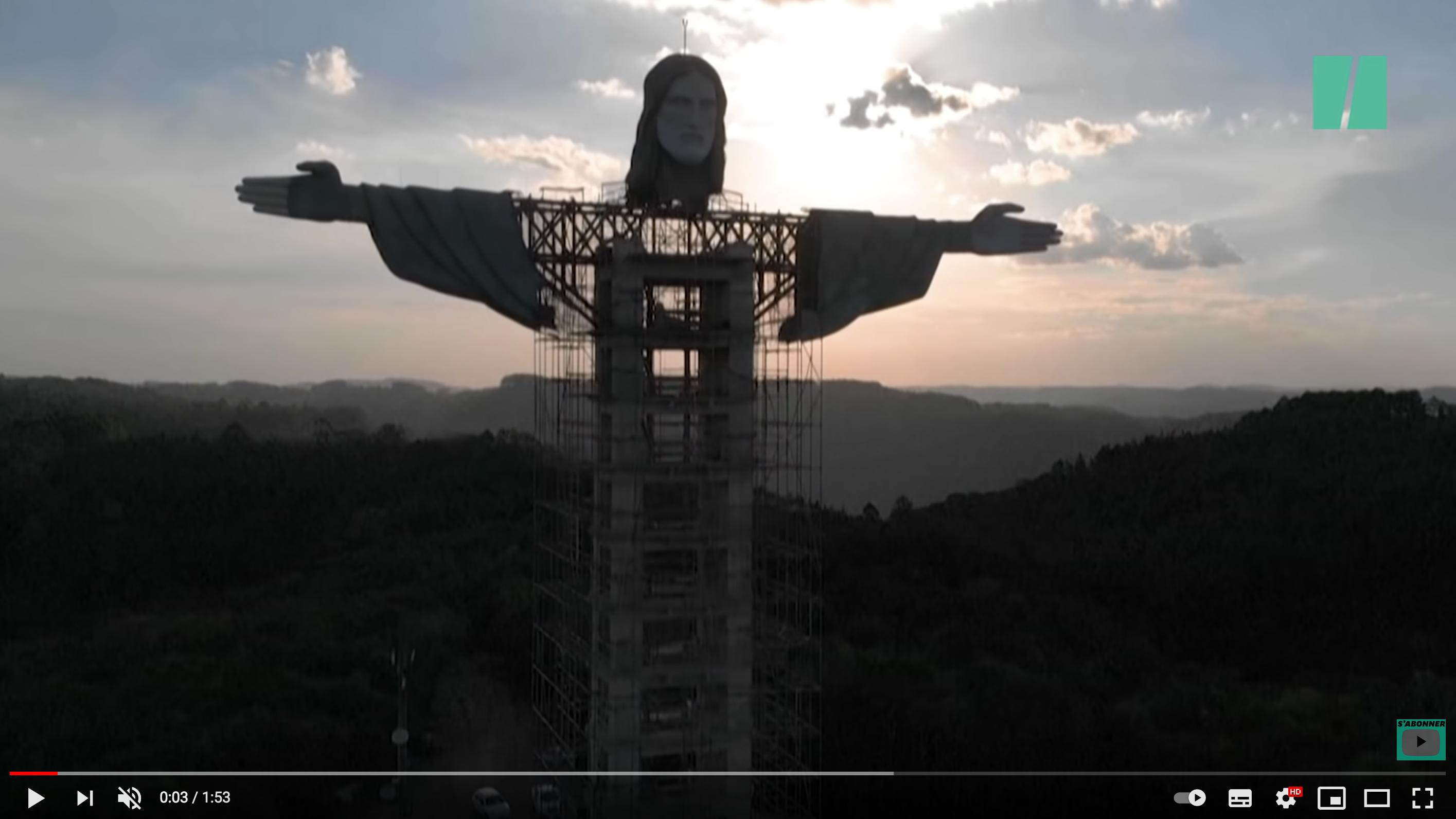Cette réplique du Christ Rédempteur de Rio va dépasser l'original (VIDÉO)