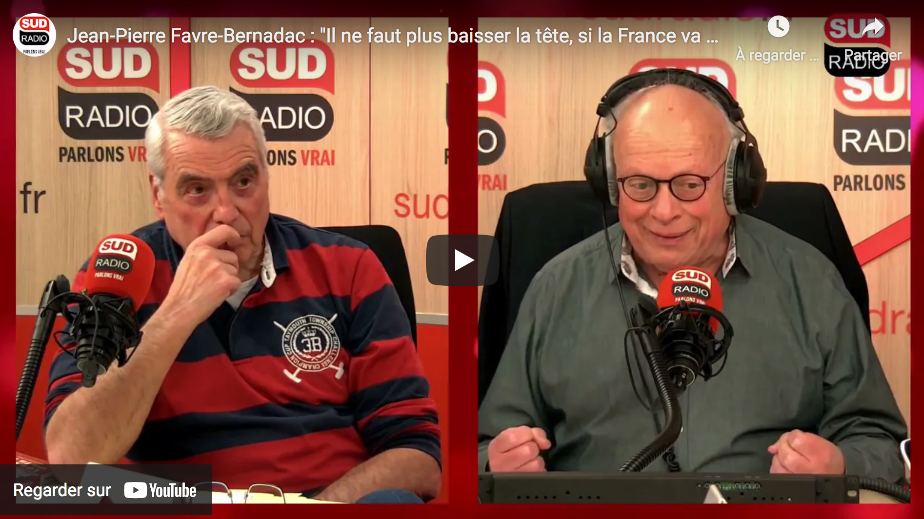 "Jean-Pierre Favre-Bernadac : ""Il ne faut plus baisser la tête, si la France va mal, il faut le dire"" (VIDÉO)"