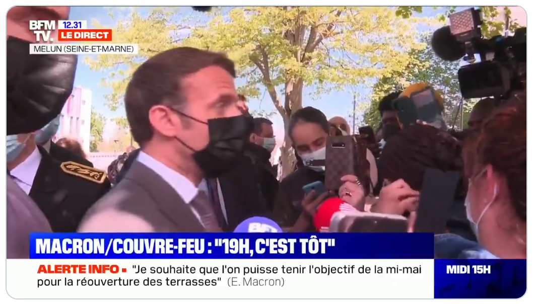 """Emmanuel Macron : """"On ne peut pas rouvrir les restaurants fin-mai/courant juin dans les départements où ça circule encore beaucoup"""" (VIDÉO)"""