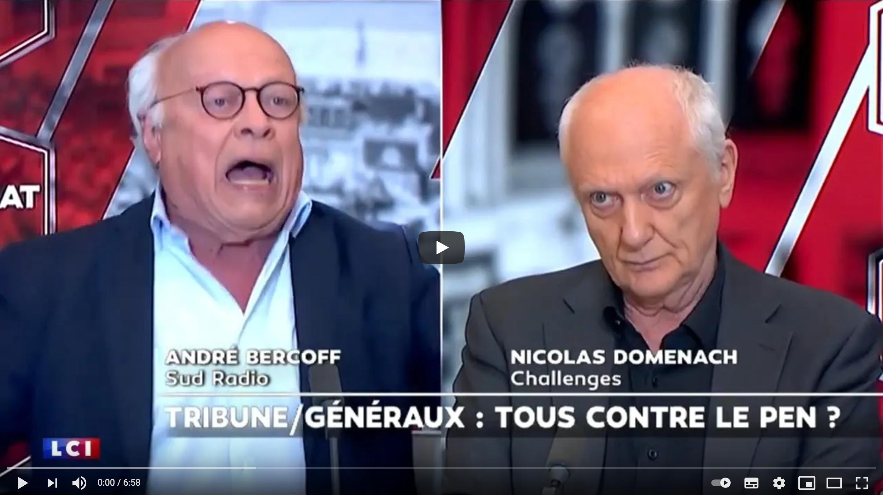 """André Bercoff s'enflamme au sujet de la tribune des anciens généraux dans """"Valeurs Actuelles"""" (VIDÉO)"""