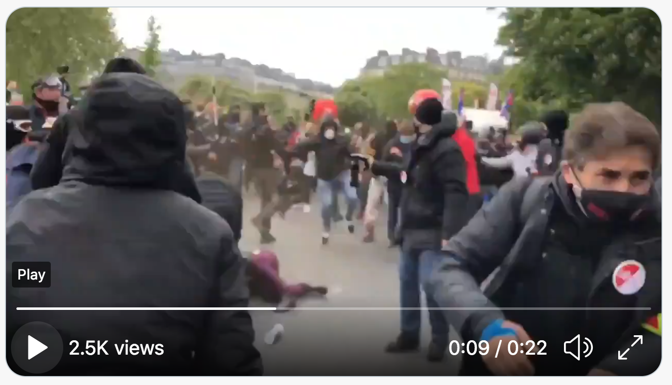 Drôle : Quand le service d'ordre de la CGT gaze des manifestants d'extrême gauche (VIDÉO)