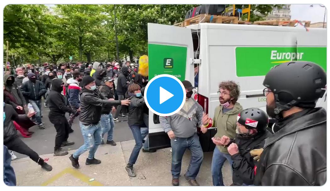 Le service d'ordre de la CGT attaqué par des extrémistes de gauche (VIDÉO)