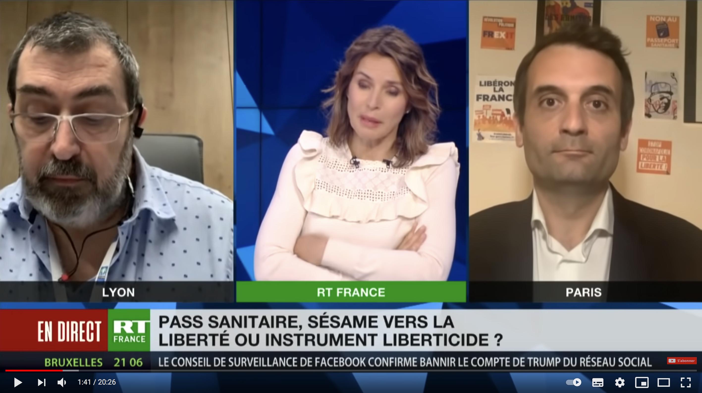 Pass sanitaire : sésame vers la liberté ou instrument liberticide ? Florian Philippot VS Pierre-Jean Ternamian (DÉBAT)