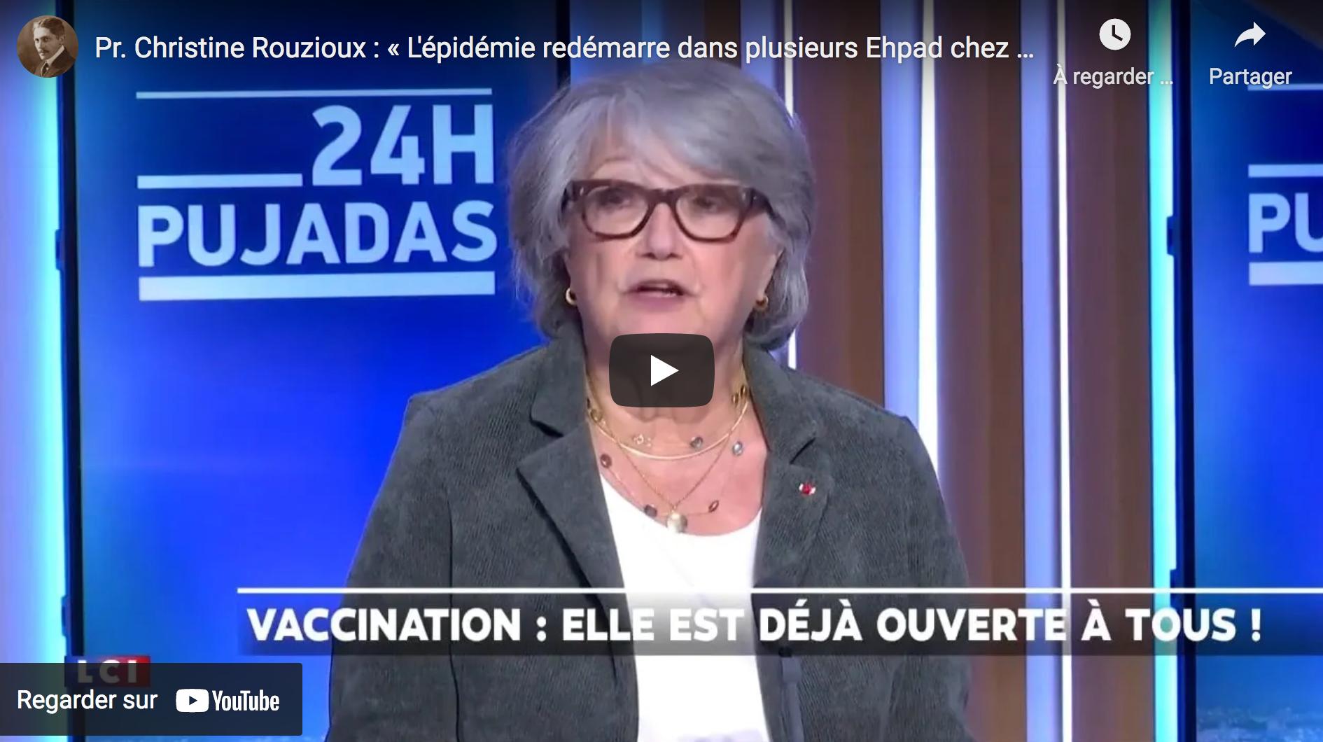 Pr Christine Rouzioux : « L'épidémie redémarre dans plusieurs Ehpad chez des sujets vaccinés ! » (VIDÉO)