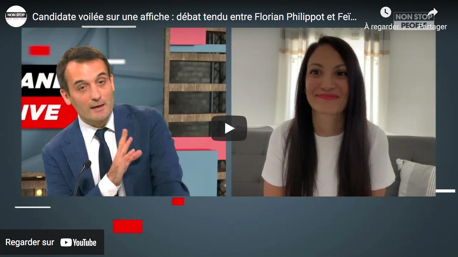 Candidate islamiste voilée sur une affiche : débat tendu entre Florian Philippot et Feïza Ben Mohamed (VIDÉO)