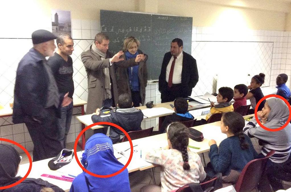 Quand Valérie Pécresse, aujourd'hui gardienne de la laïcité auto-proclamée, venait draguer les islamistes dans une école coranique… (PHOTO)