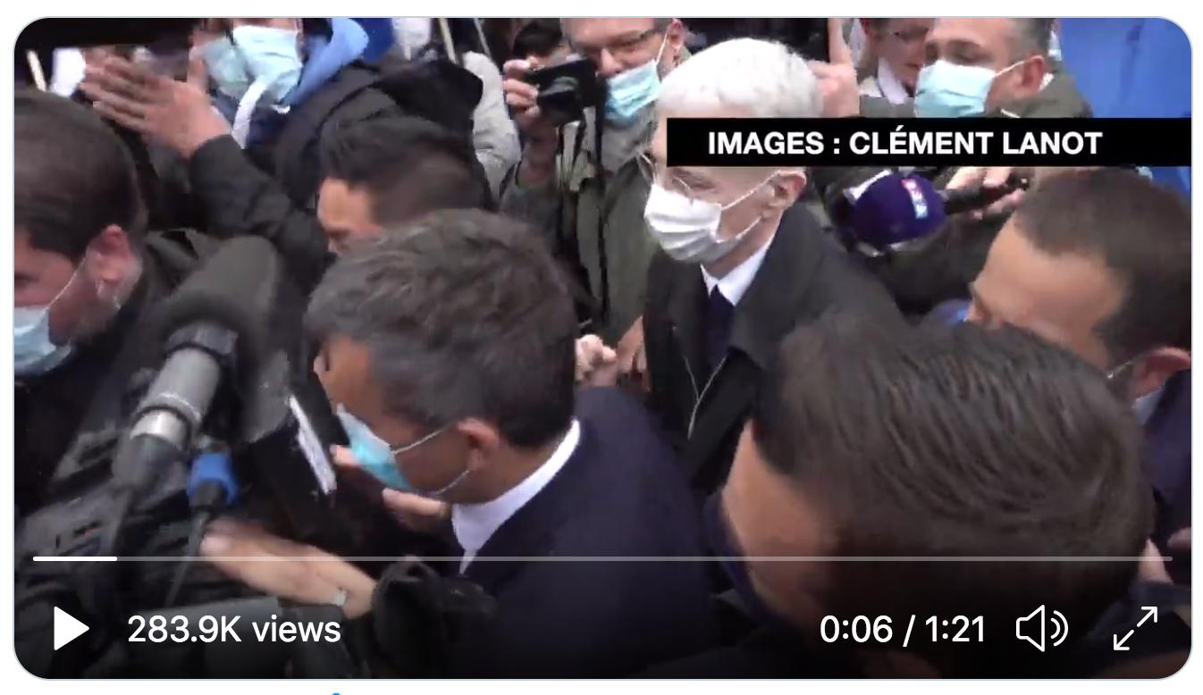 Les images que vous ne verrez pas au JT de 20h : Gérald Darmanin conspué à la manifestation des policiers (VIDÉO)