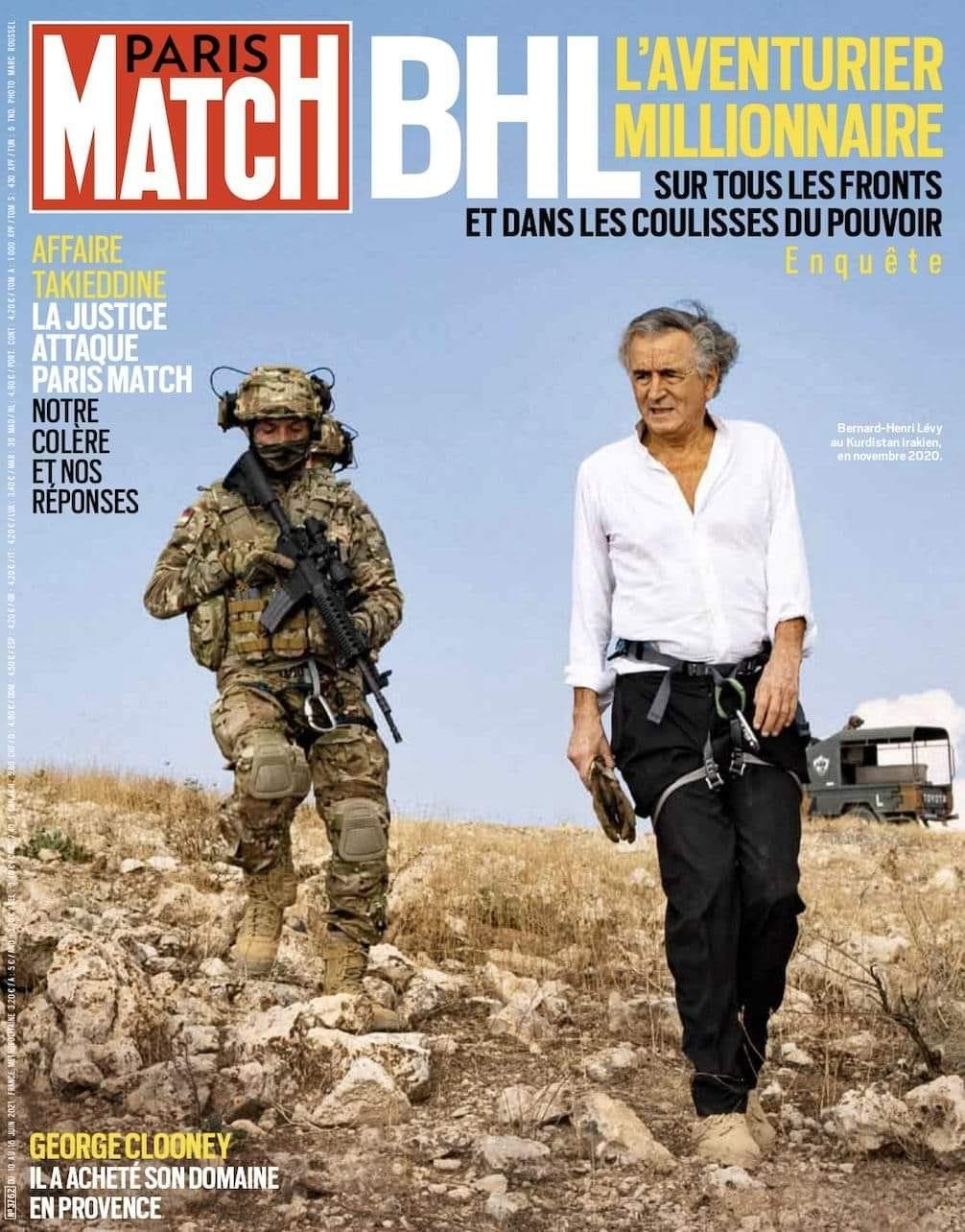 """""""Paris Match"""" se ridiculise en servant la soupe à """"BHL, l'aventurier millionnaire sur tous les fronts et dans les coulisses du pouvoir"""""""