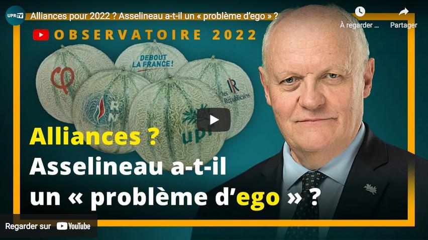 Alliances pour 2022 ? François Asselineau a-t-il un « problème d'ego » ? La réponse de… François Asselineau (VIDÉO)