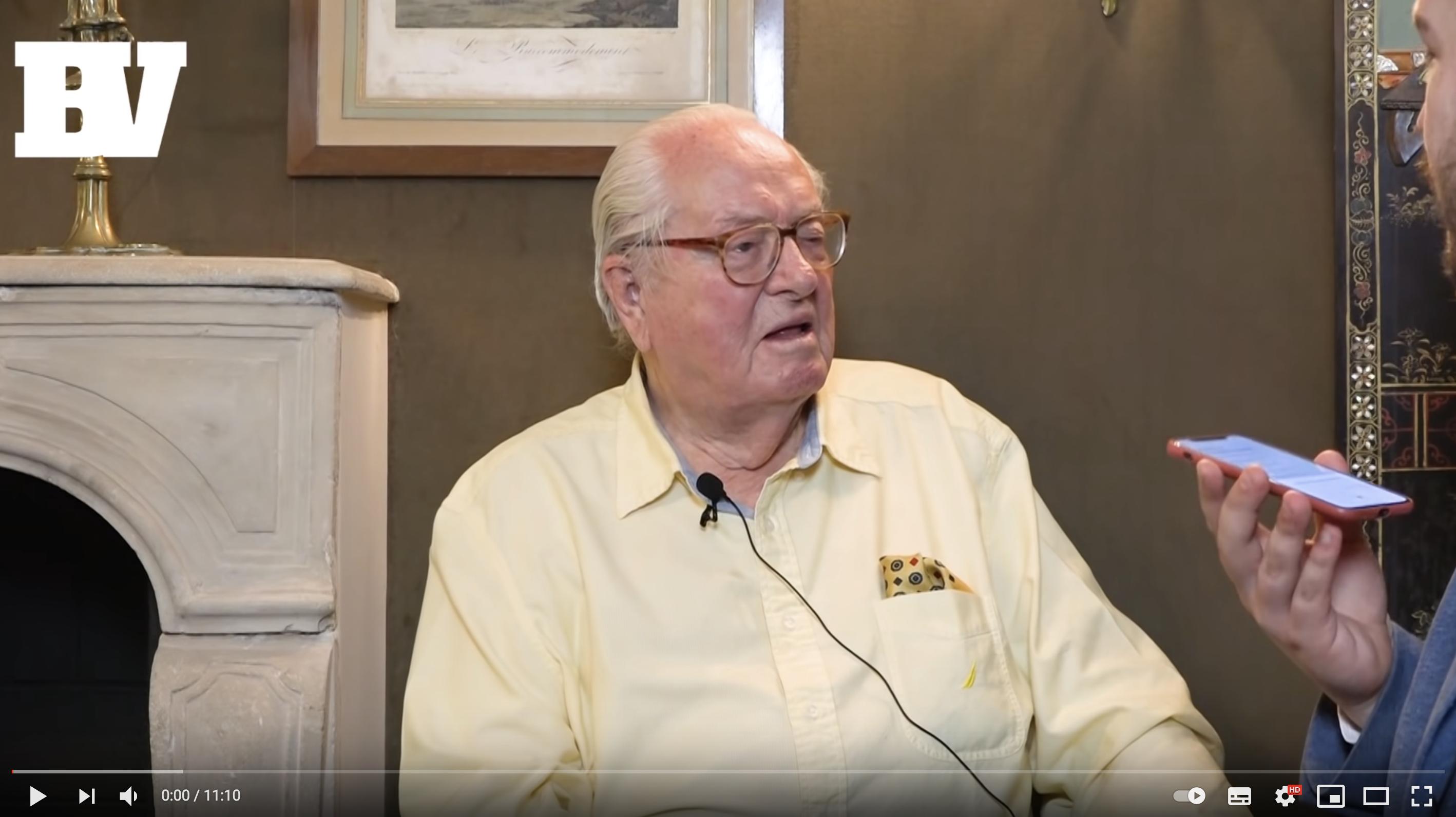 """Jean-Marie Le Pen : """"Je déconseille amicalement à Éric Zemmour d'y aller !"""" (VIDÉO)"""
