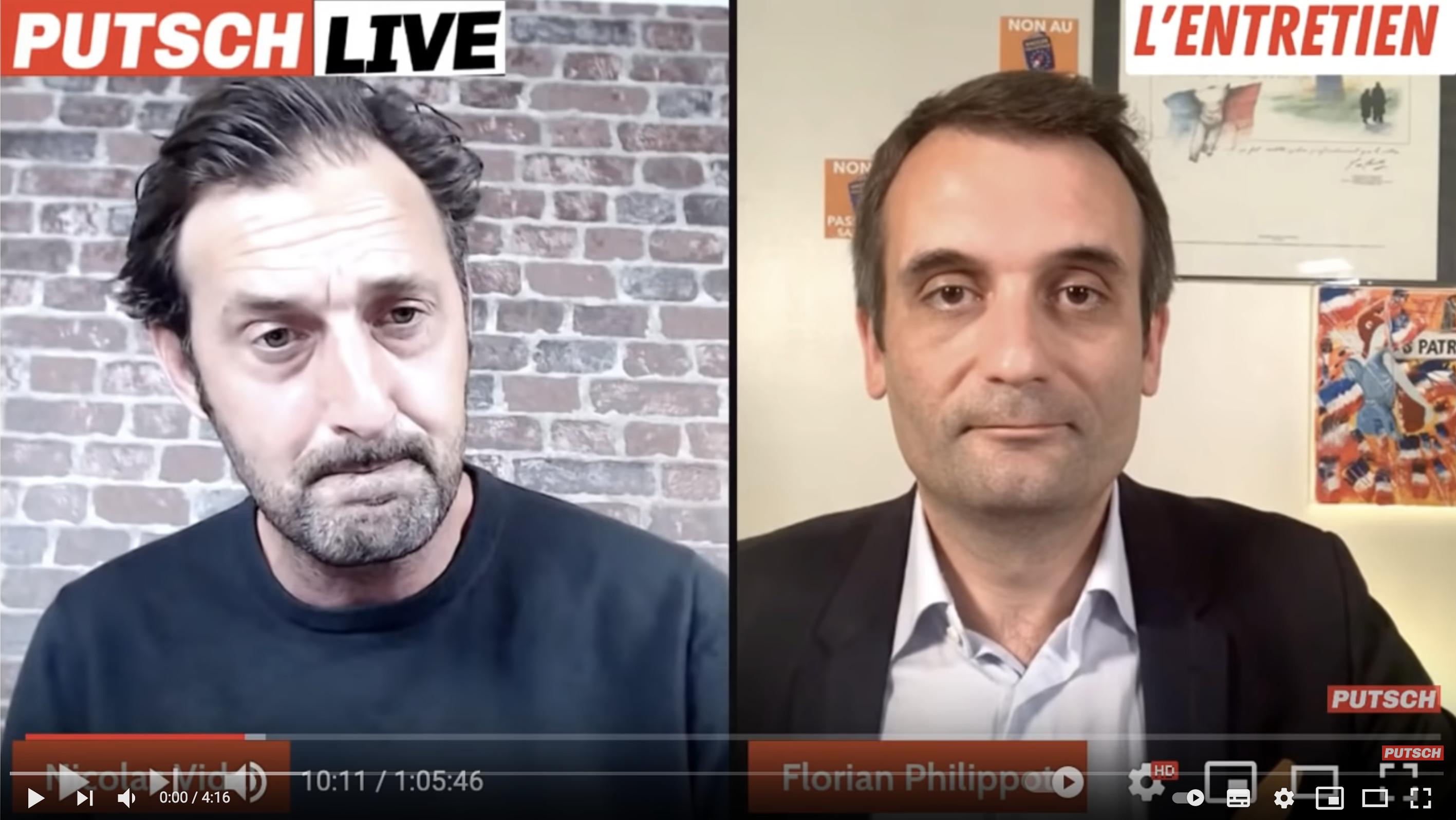 Pass sanitaire : Florian Philippot attaque violemment Michel Onfray (VIDÉO)