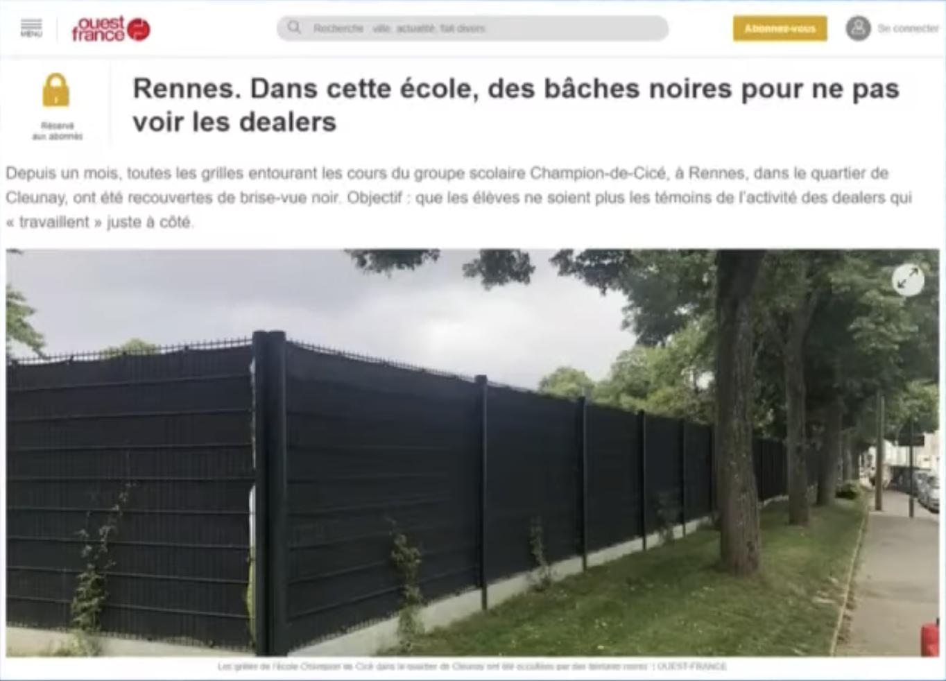 Surréaliste : À Rennes, ce ne sont pas les dealers qui se cachent mais les écoles… (VIDÉO)