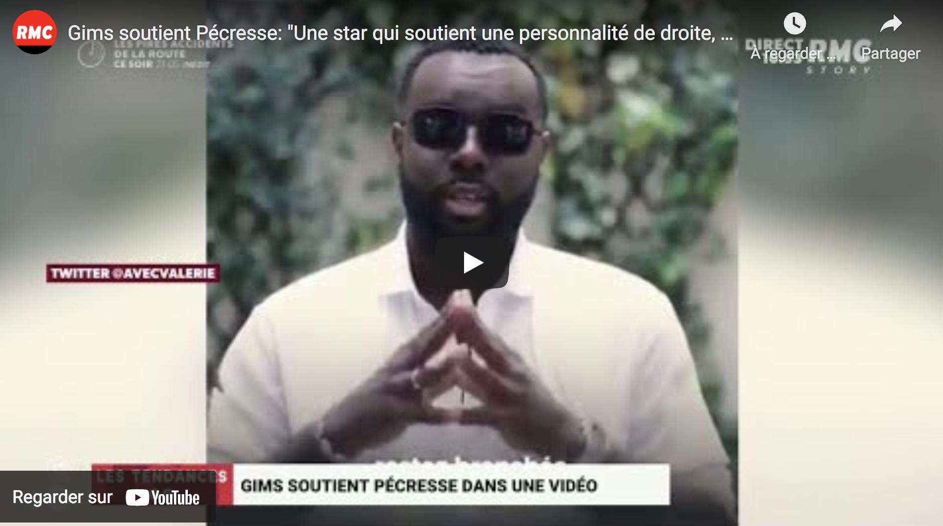 """Maître Gims soutient Valérie Pécresse : """"Une star qui soutient une personnalité de droite, c'est devenu insolite"""" (VIDÉO)"""