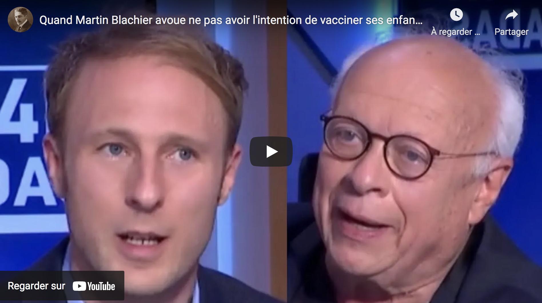 Quand le Dr Martin Blachier avoue ne pas avoir l'intention de vacciner ses enfants face à André Bercoff ! (VIDÉO)