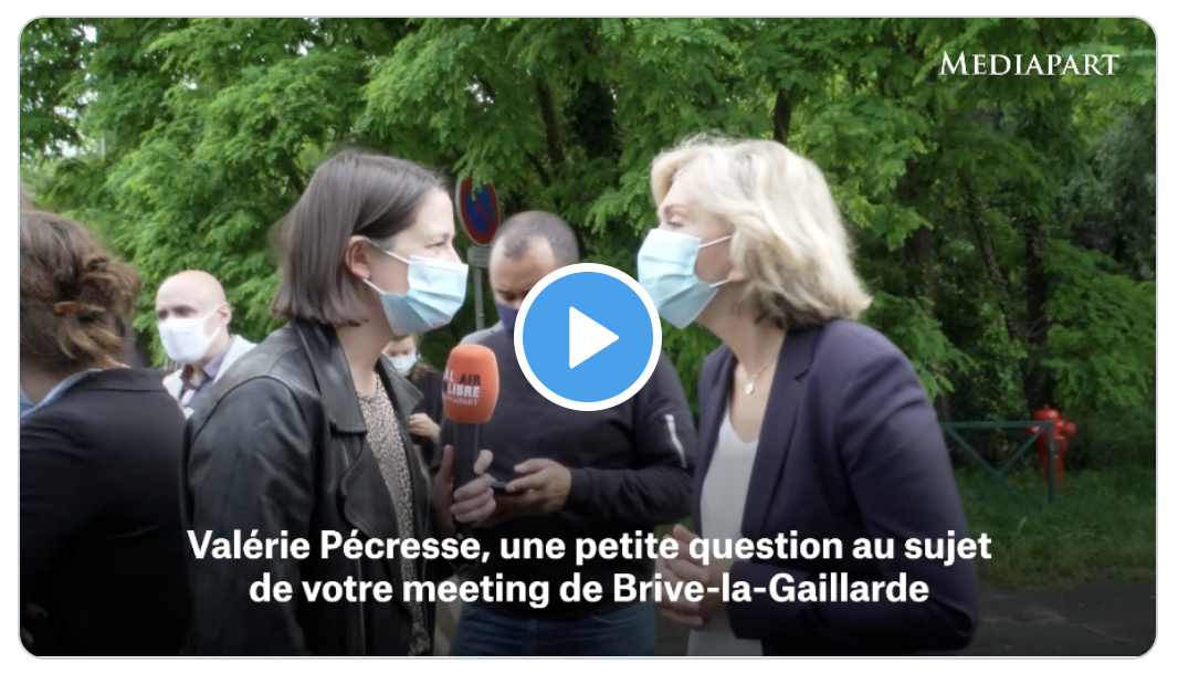 """Retour sur le meeting fantoche de Valérie Pécresse à Brive-la-Gaillarde (avec, en fait de """"militants de droite"""", des immigrés d'associations communautaires franciliennes subventionnées)"""