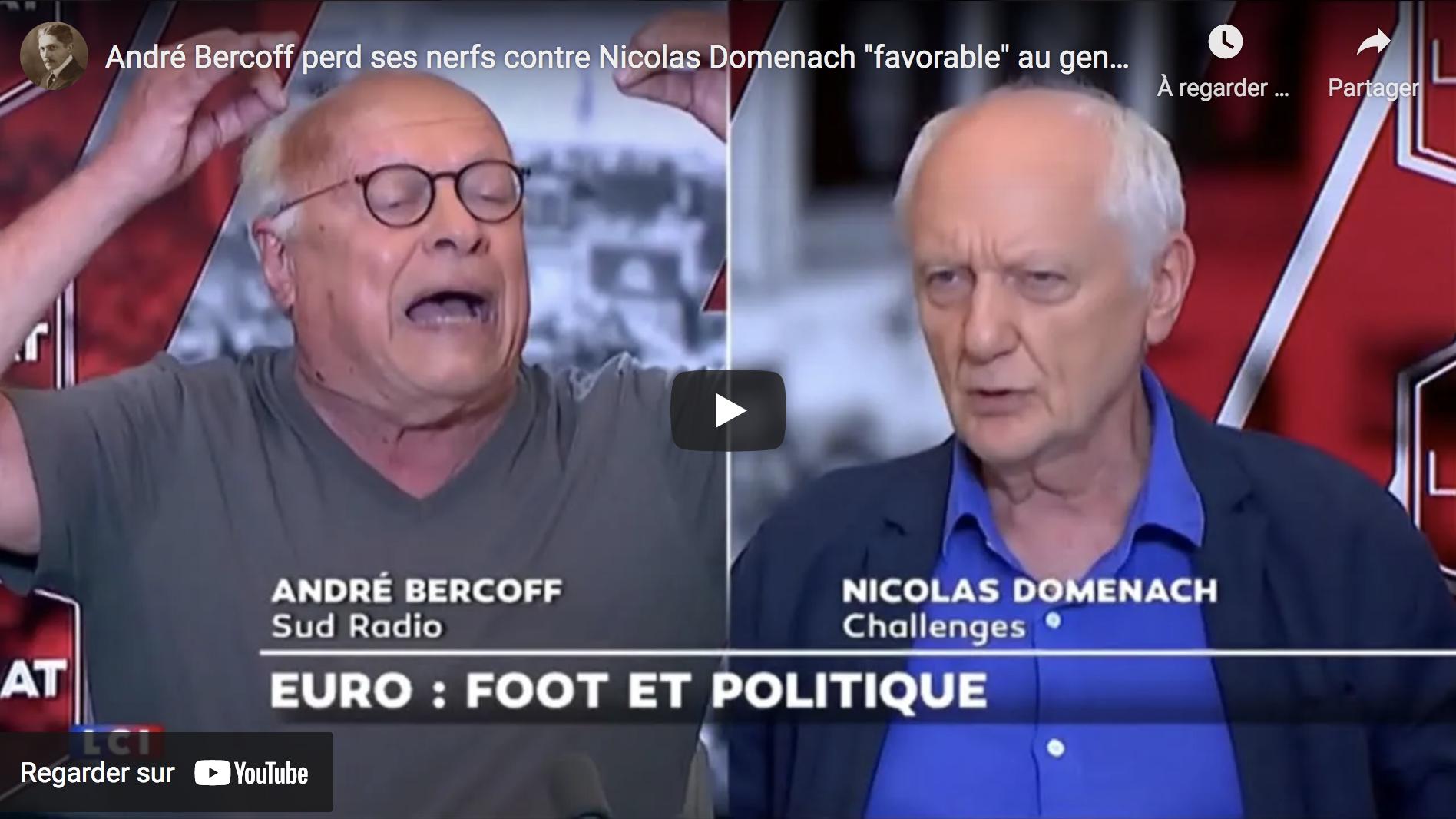 """André Bercoff perd ses nerfs contre Nicolas Domenach """"favorable"""" au genou à terre contre le racisme (VIDÉO)"""