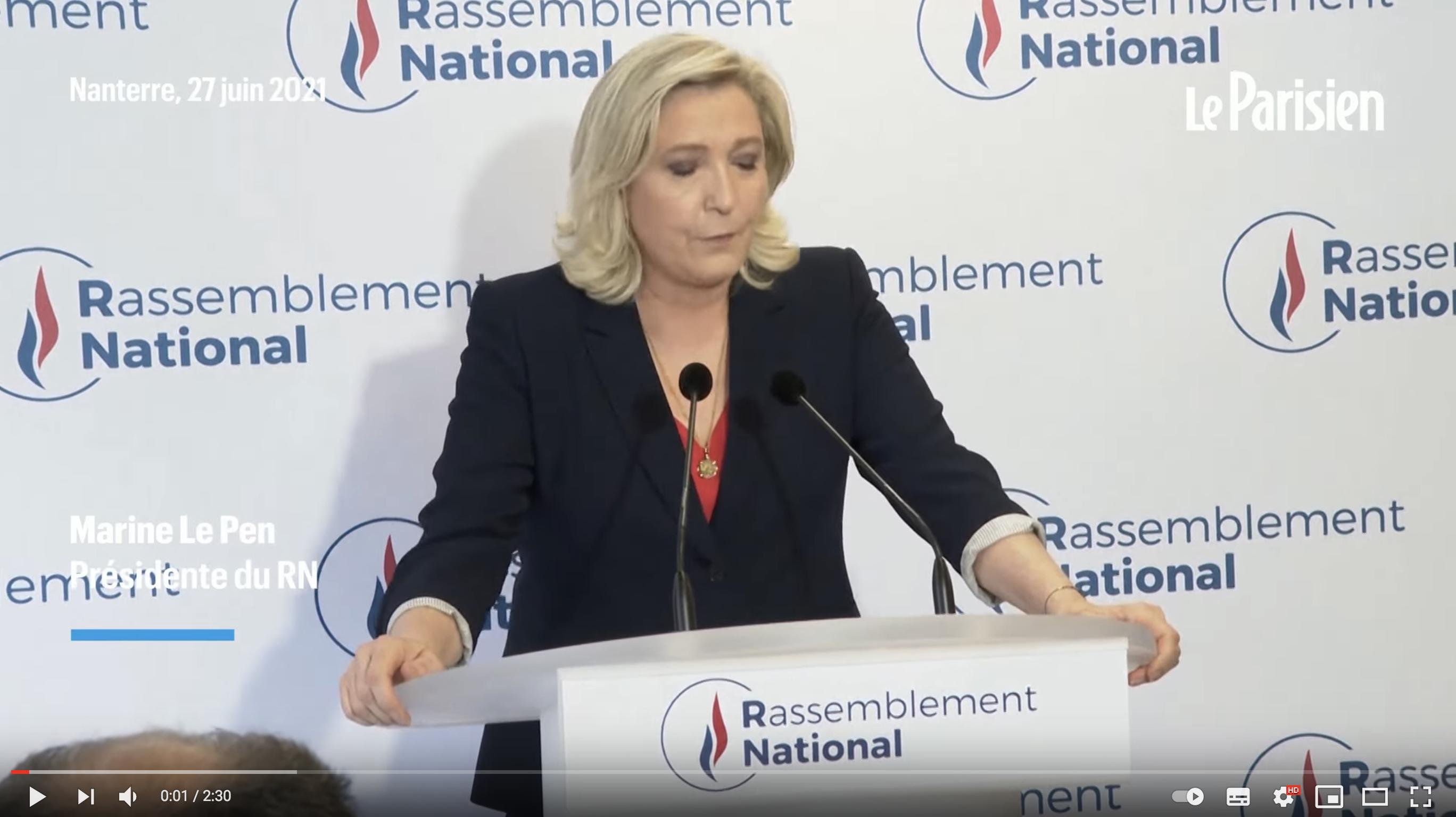 Marine Le Pen donne déjà « rendez-vous aux Français » pour « construire l'alternance » (VIDÉO)