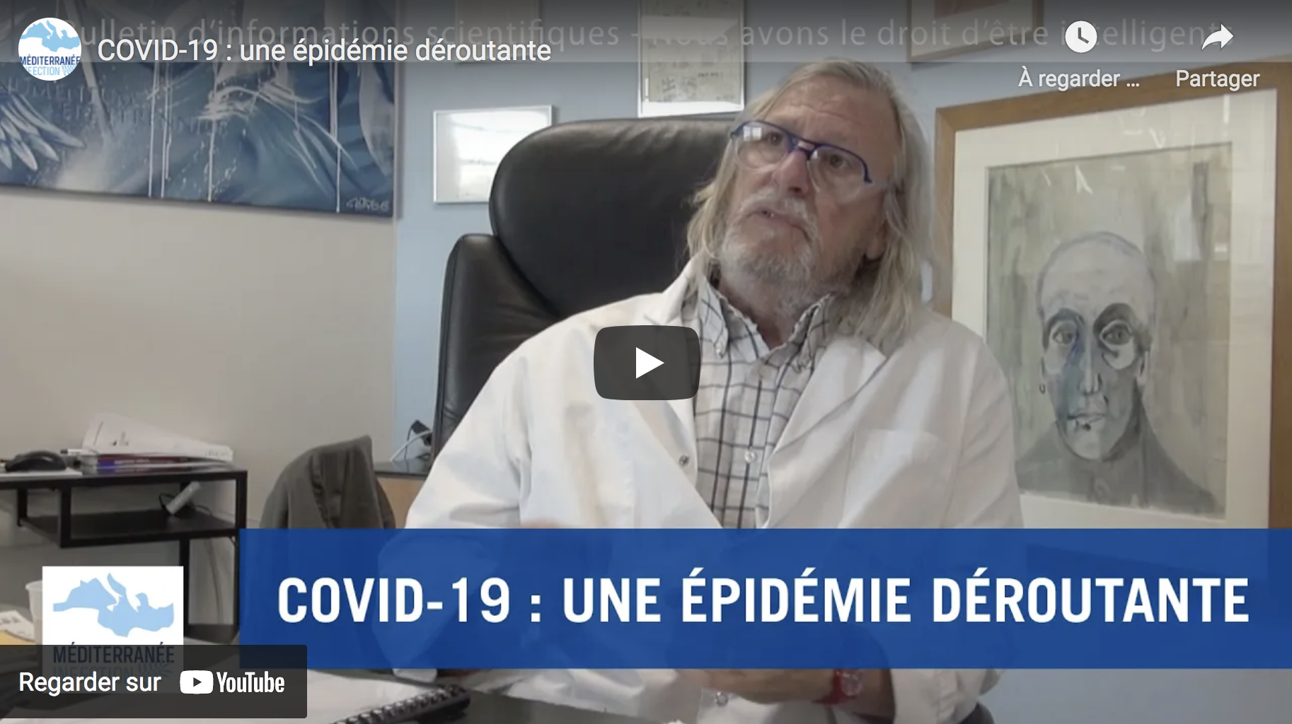 Covid-19 : une épidémie déroutante (Pr Didier Raoult)