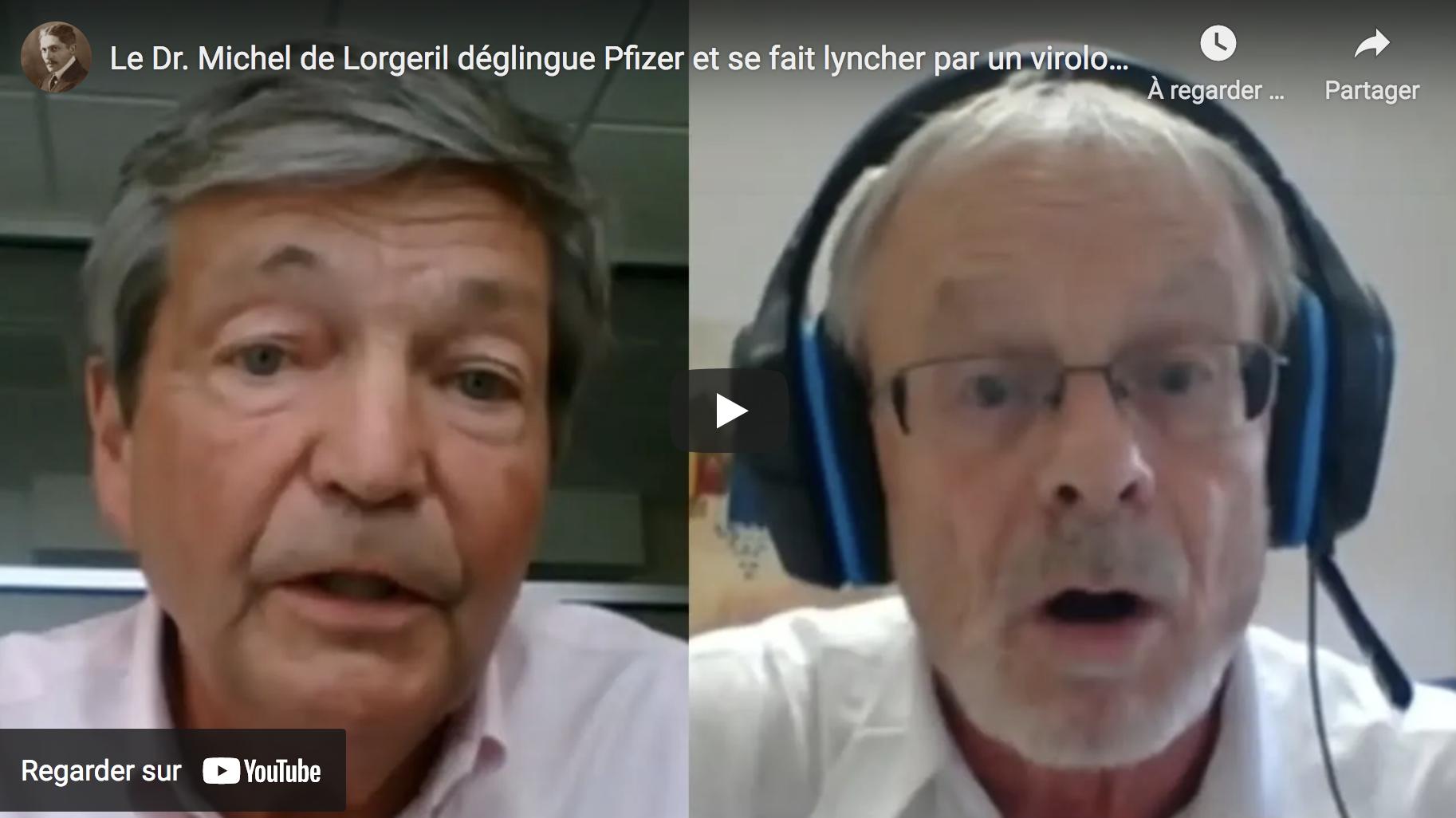 """Le Dr Michel de Lorgeril dézingue le """"vaccin"""" Pfizer et se fait lyncher par le virologue Christian Bréchot en plein direct (VIDÉO)"""