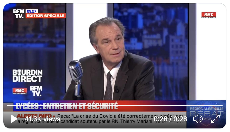 Le président de la PACA réélu Renaud Muselier accusé de mentir par Jean-Jacques Bourdin (VIDÉO)