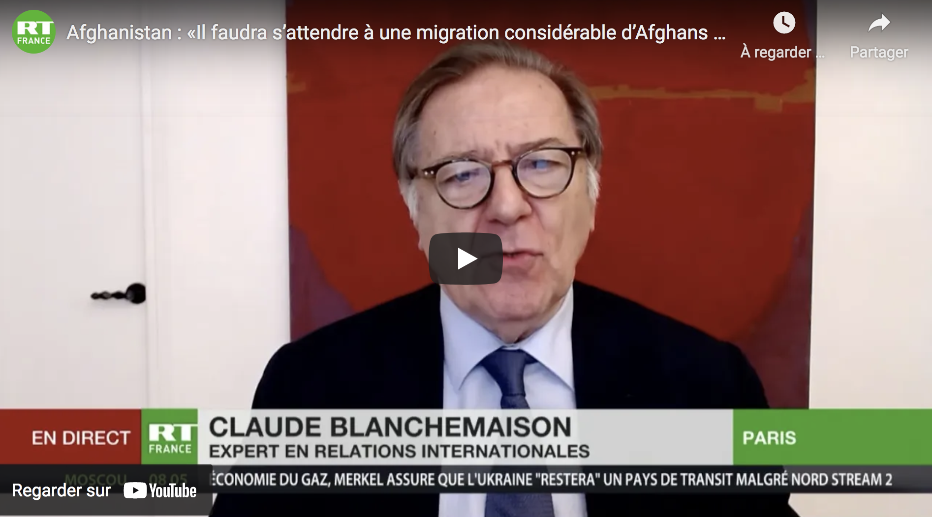 Invasion immigrée et Grand Remplacement : « Il faut s'attendre à une migration considérable d'Afghans vers l'Europe » (Claude Blanchemaison)