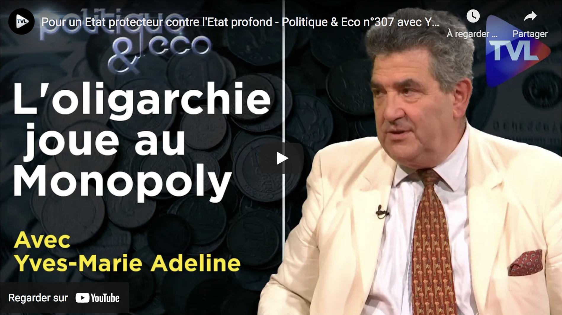 Pour un État protecteur contre l'État profond (Yves-Marie Adeline)