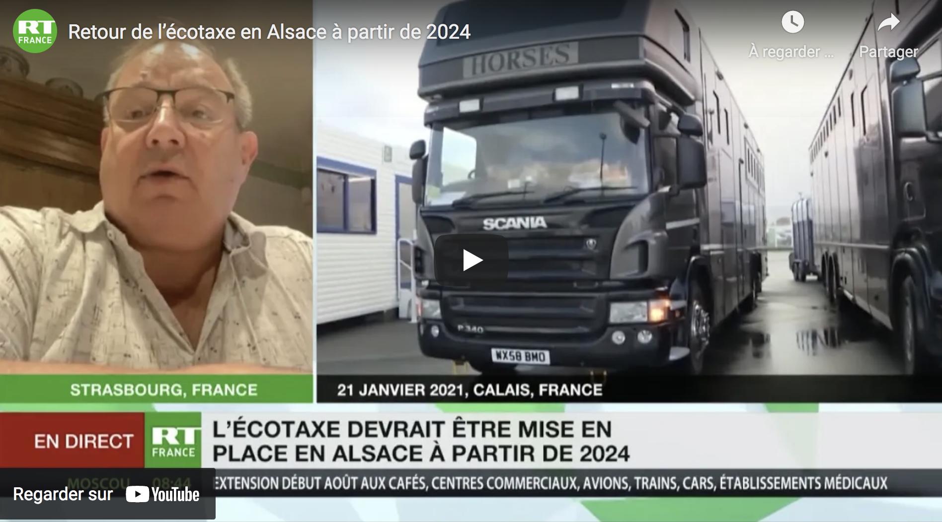 Retour de l'écotaxe en Alsace… à partir de 2024 !