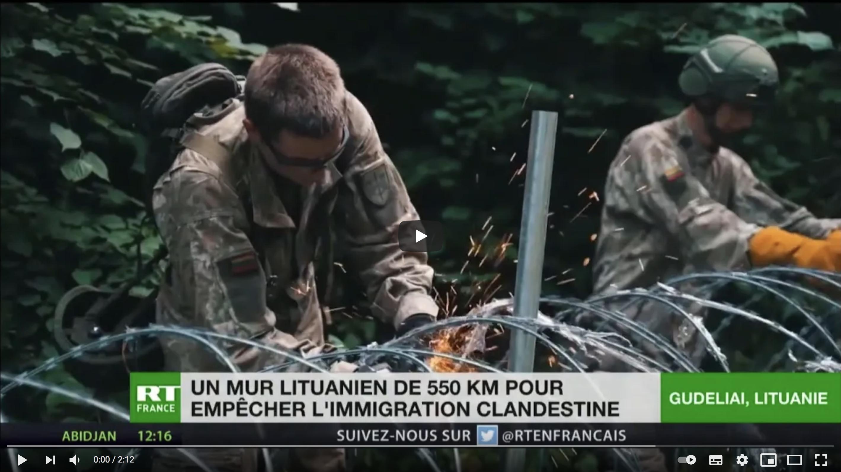 Face à l'afflux d'immigrés, la Lituanie va construire un mur le long de sa frontière (VIDÉO)