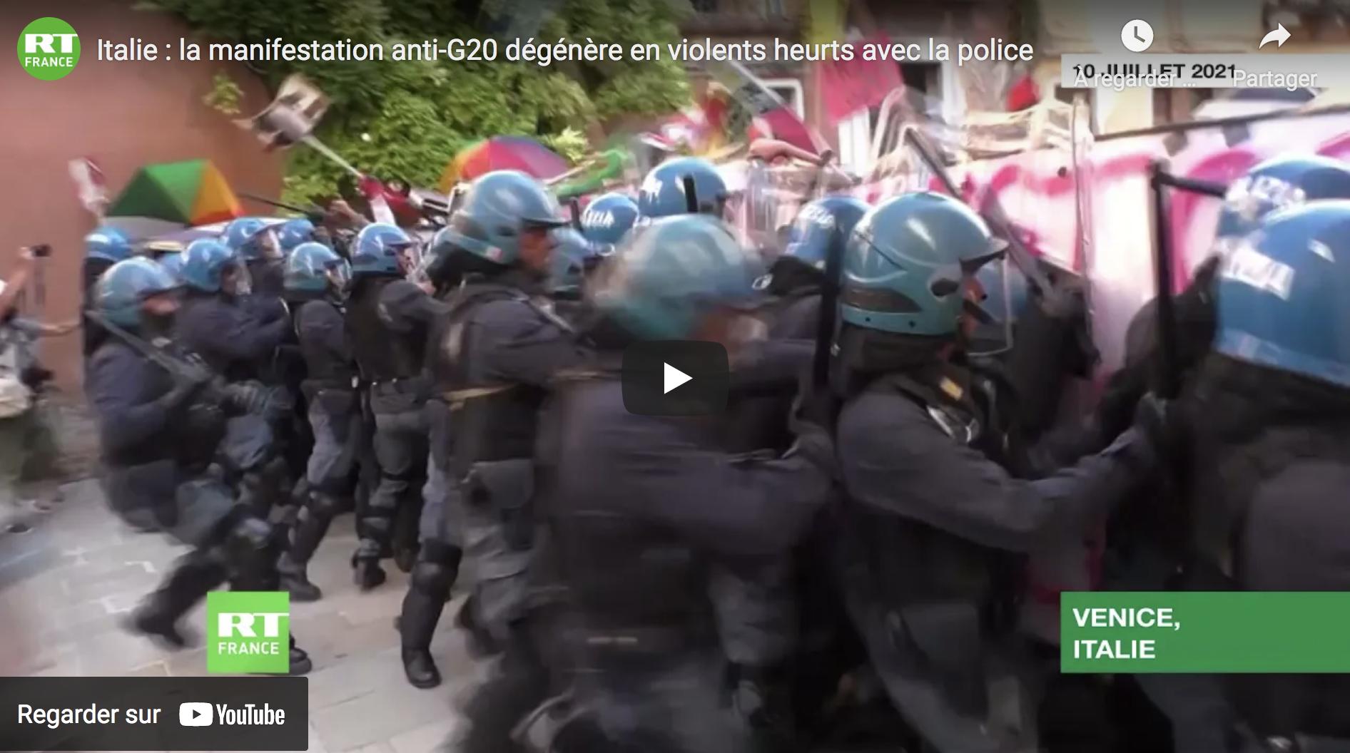Italie : la manifestation anti-G20 dégénère en violents heurts avec la police (VIDÉO)