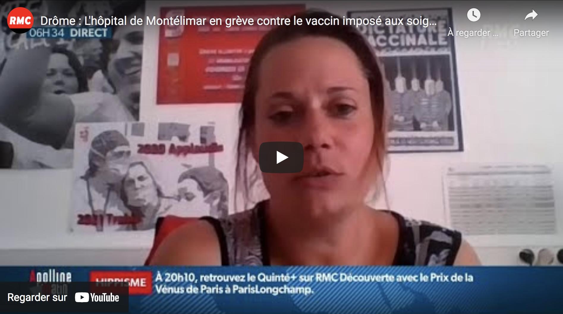 Drôme : L'hôpital de Montélimar en grève contre le vaccin imposé aux soignants (VIDÉO)