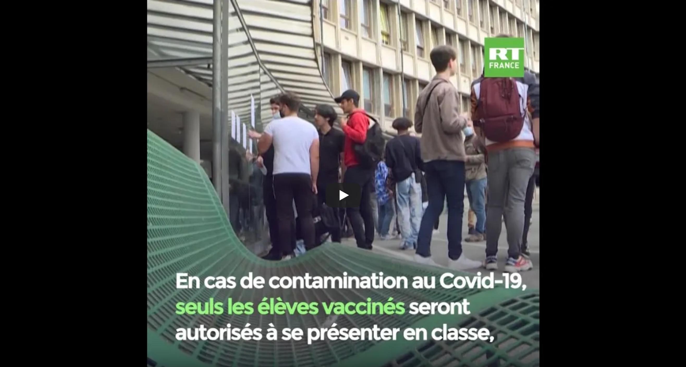 Protocole sanitaire : Jean-Michel Blanquer crée la polémique en stigmatisant les élèves non-vaccinés