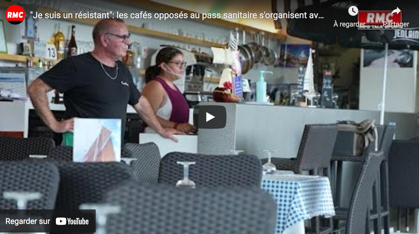 """""""Je suis un résistant"""" : les cafés opposés au pass sanitaire s'organisent avant son entrée en vigueur (VIDÉO)"""