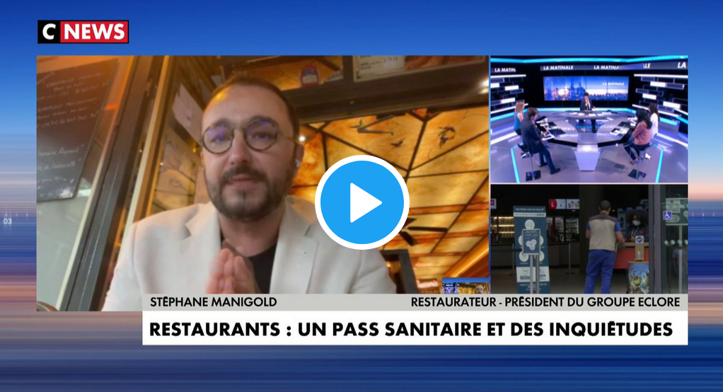 Stéphane Manigold, le défenseur autoproclamé des restaurateurs, prend position pour le pass sanitaire… (VIDÉO)