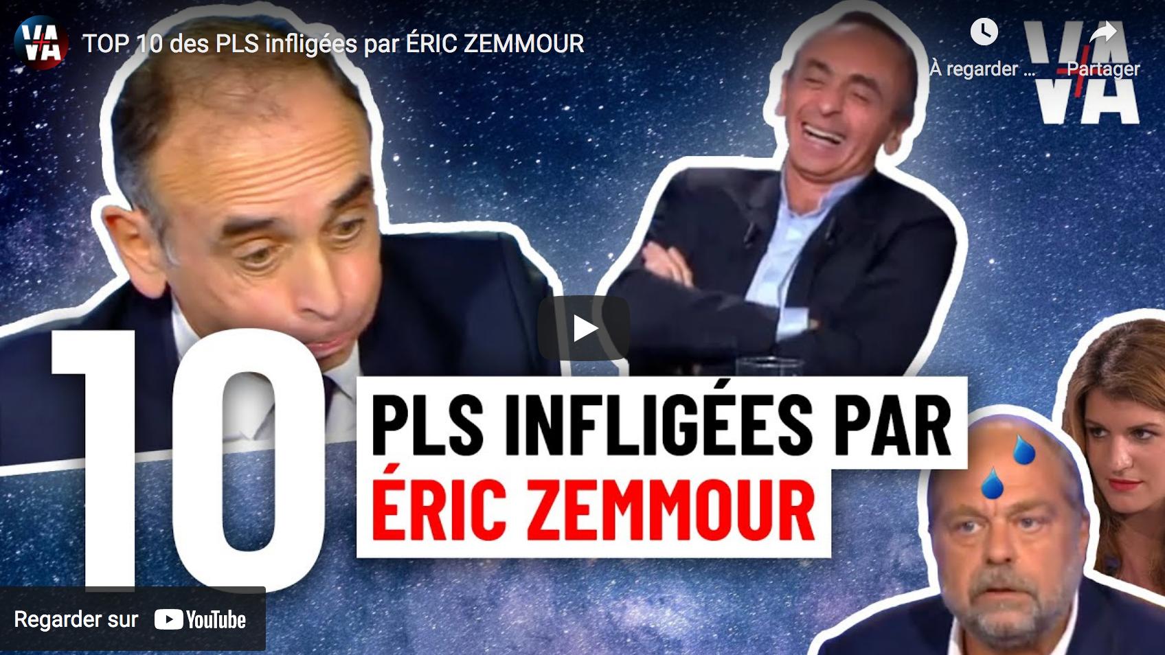 TOP 10 des PLS infligées par Éric Zemmour (VIDÉO)