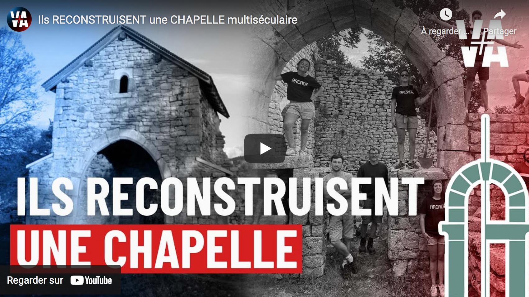 Ils reconstruisent une chapelle multiséculaire (REPORTAGE)