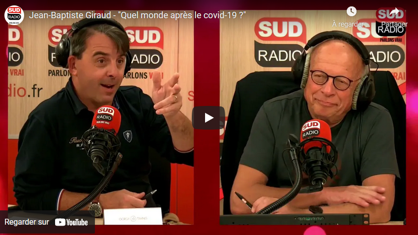 """Le journaliste Jean-Baptiste Giraud s'interroge : """"Quel monde après le covid-19 ?"""" (ENTRETIEN)"""
