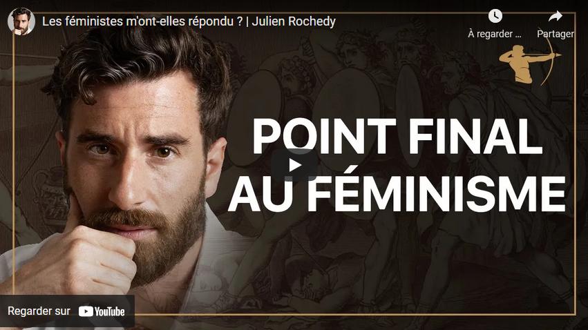 """""""Les féministes m'ont-elles répondu ?"""" (Julien Rochedy)"""