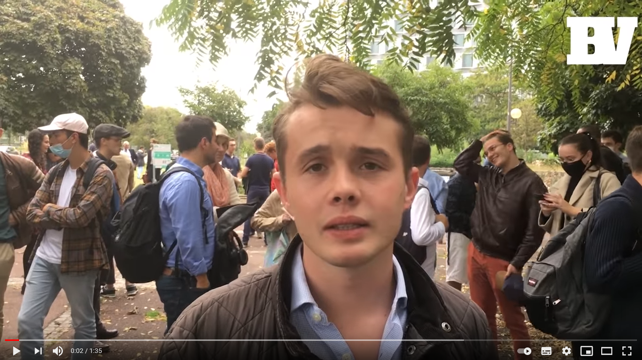 La manifestation de soutien à Éric Zemmour devant le CSA comme si vous y étiez (VIDÉO)
