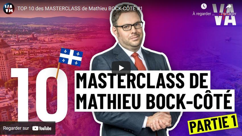 Top 10 des meilleures répliques du sociologue et essayiste québécois Mathieu Bock-Côté (partie 1)