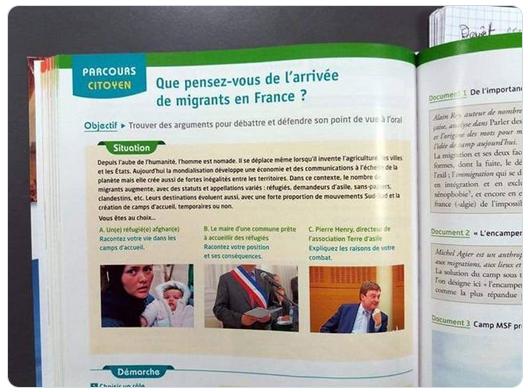 Propagande pro-immigration dans les manuels scolaires